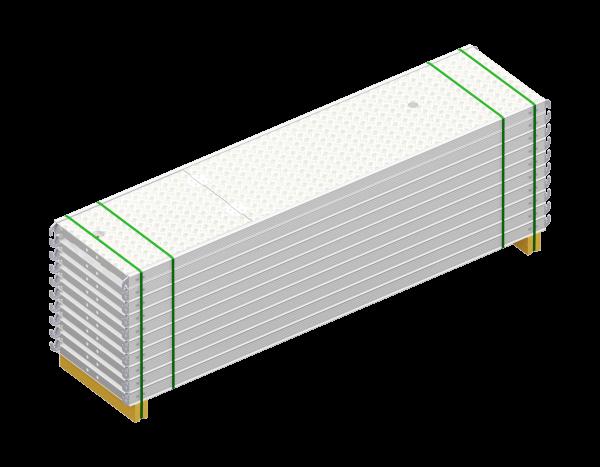 Paket ALFIX Durchstieg aus Aluminium 2,57 x 0,60 m, mit Leiter, Belag WBQ, 10 Stück