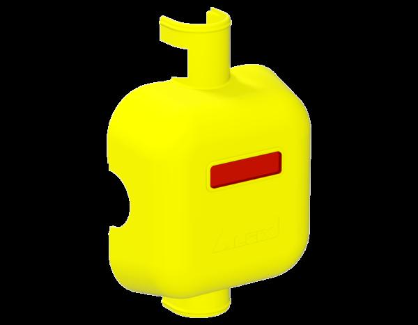 Cover for modular connector node, polypropylene, yellow