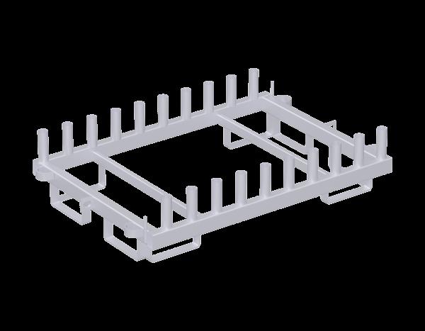 Scaffolding pallet, steel, galvanised