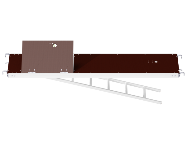 ALFIX MODUL MULTI aluminium access deck with tube fixture and integrated storey ladder 0.60 m