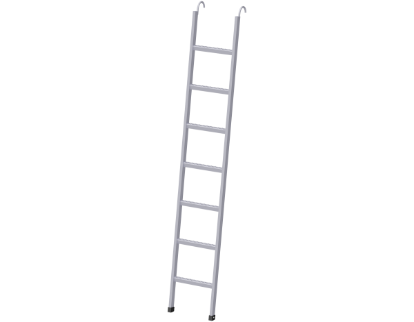 Storey ladder with hooks 2.00 x 0.40 m, steel, galvanised