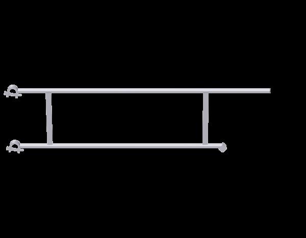 ALFIX MODUL METRIC Podestgeländer aus Stahl, feuerverzinkt