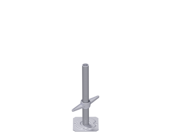 ALBLITZ base jack, steel, galvanised