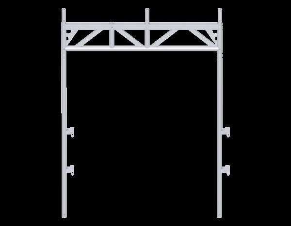 ALFIX passage frame 2.20 x 1.57 m, steel, 3-part, galvanised