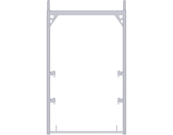 ALFIX assembly frame 2.00 x 1.09 m, steel, with 4 guardrail wedge housings, galvanised