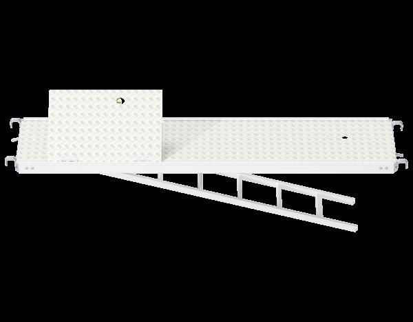 ALFIX MODUL MULTI Vollaluminium Rahmentafel mit Durchstieg und integrierter Etagenleiter (WBQ)