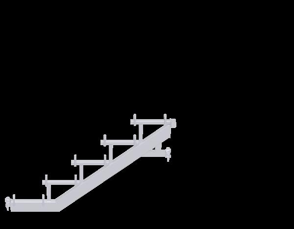 ALFIX MODUL METRIC Treppenwange aus Stahl, mit Keilköpfen, vz