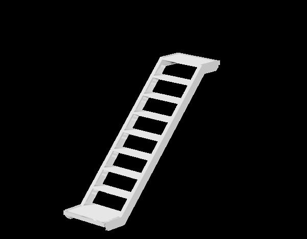 UNIFIX stairway 0.64 m, aluminium