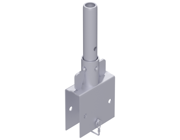 ALFIX MODUL tube connector 0.40 m, steel, galvanised, for U 2-deck bearer and tube connector