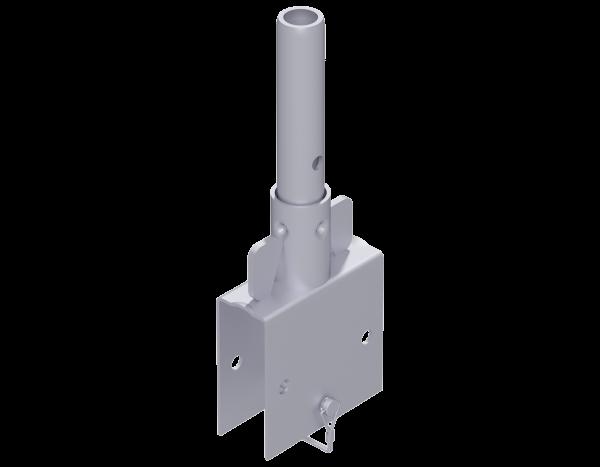 ALFIX MODUL Rohrverbinder aus Stahl 0,40 m, vz·für U-Doppelriegel und Rohrauflage