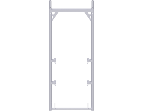 ALFIX assembly frame 2.00 x 0.73 m, steel, with 4 guardrail wedge housings