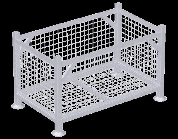 Gitterpalette ohne Zwischenwand aus Stahl, vz, Finnland