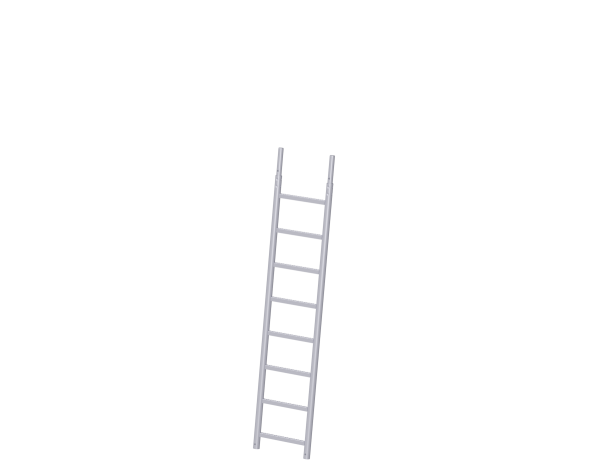 Scaffolding lean-to ladder, steel, galvanised