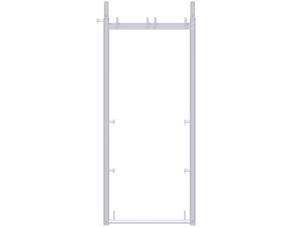 UNIFIX assembly frame 2.00 x 0.74 m, steel, galvanised, lightweight, with tilting pins and toeboard pins on both sides
