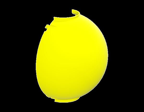 Abdeckkappe aus Kunststoff (PP) für Modulanschlussscheibe, gelb