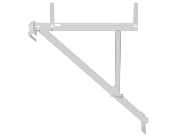 ALFIX roof bracket 0.73 m, aluminium, incl. 1 special locking pin