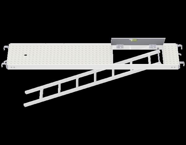 ALFIX MODUL METRIC Vollaluminium Rahmentafel mit Durchstieg und integrierter Etagenleiter RE (WBQ)