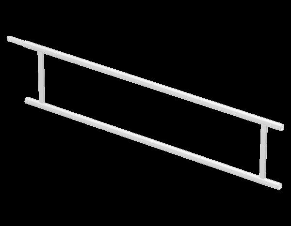 Guardrail frame 2.50 m, aluminium