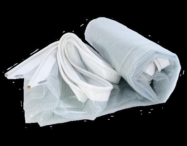 Kederplane Gittergewebe 300 g/m², weiß-transluzent