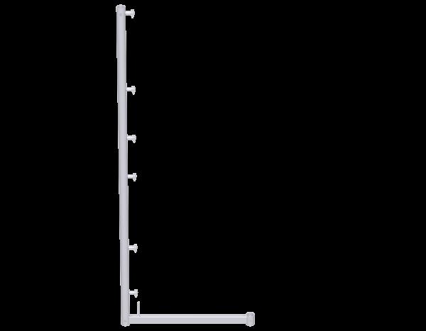 UNIFIX Schutzgitterstütze aus Stahl 2,00 m, vz