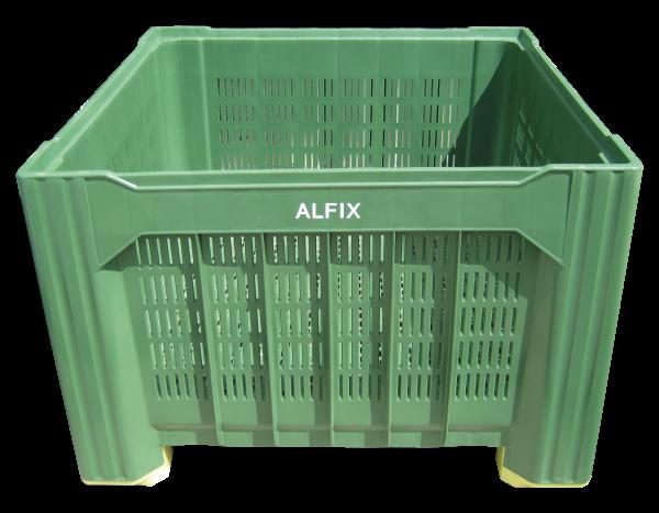 Großbehälter aus Kunststoff 1,12 x 1,12 x 0,77 m, grün