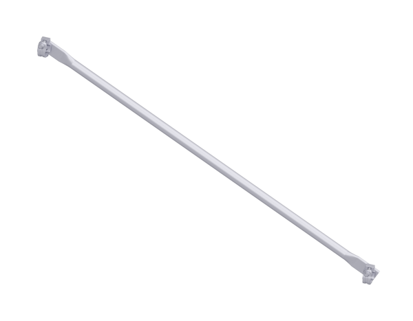 Diagonal cross brace, steel, galvanised