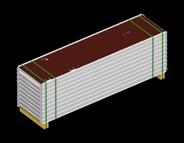 Paket UNIFIX Durchstieg aus Aluminium 2,50 x 0,64 m, mit Leiter, Belag SDP, 10 Stück