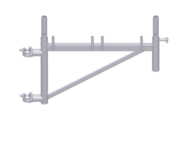 UNIFIX bracket, steel, galvanised, with 2 tube connectors