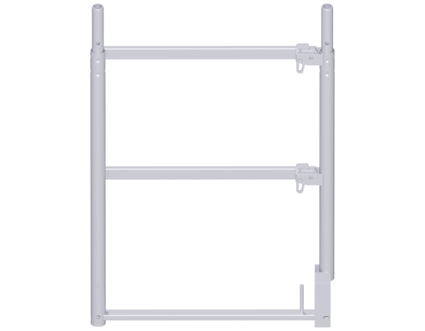 ALFIX end guardrail frame, steel, galvanised, lightweight