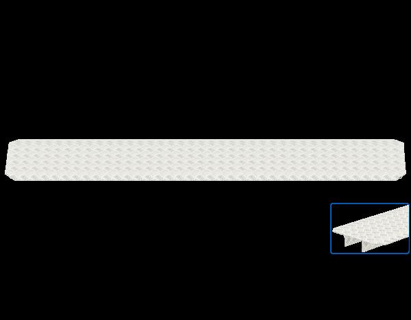 ALFIX MODUL MULTI gap cover, aluminium, for double standard, axis dimension 155 mm