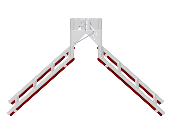 Double sided jointed eave roof ladder 1.20 x 0.25 m, aluminium