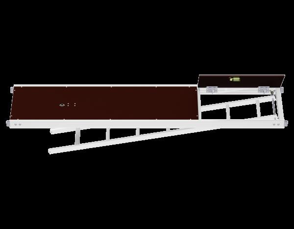 UNIFIX Aluminium Rahmentafel mit Durchstieg und integrierter Etagenleiter 0,64 m (SDP)