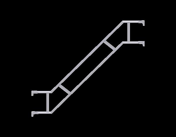 ALBLITZ Treppengeländer doppelt aus Stahl, vz