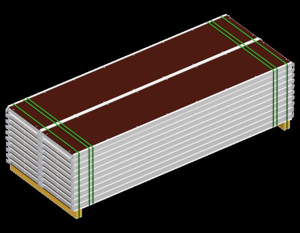 Paket ALFIX Rahmentafel aus Aluminium 3,07 x 0,60 m Belag SDP, VPE 20 Stück