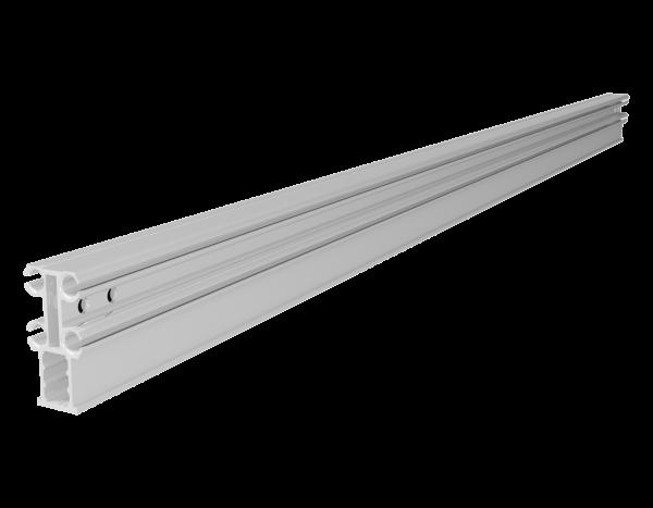 VARIO Keder rail wall profile, aluminium, with 2 boreholes per side