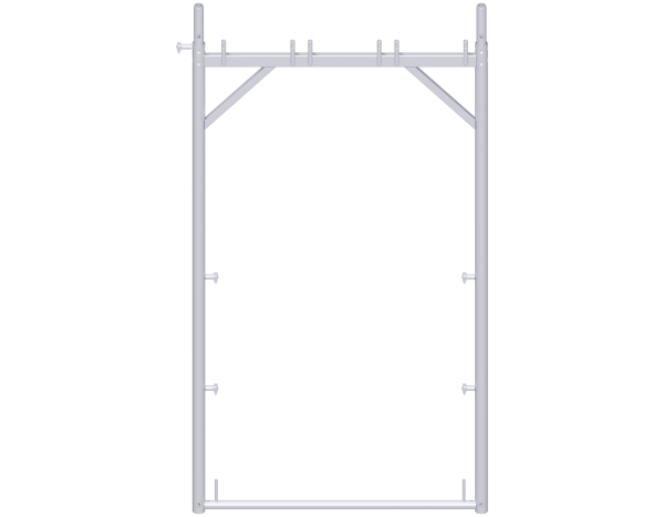 UNIFIX assembly frame 2.00 x 1.10 m, steel, galvanised, with tilting pins and toeboard pins on both sides
