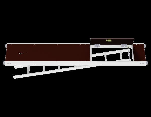 UNIFIX Aluminium Rahmentafel mit Durchstieg, integrierter Etagenleiter und Austrittsstufe 0,64 m