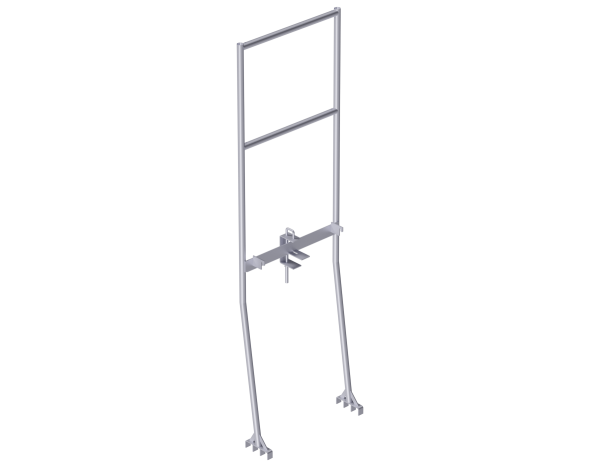 ALFIX advance end guardrail frame 0.73 m, steel, with protection mechanism against lifting