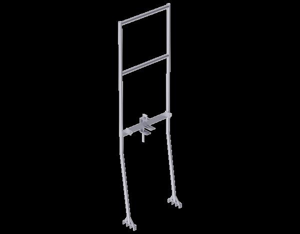 ALFIX Voreilender Stirngeländerrahmen aus Stahl 0,73 m, mit Aushubsicherung