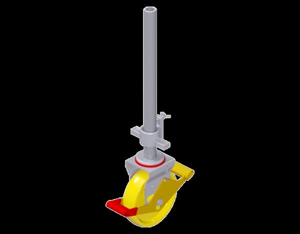 Lenkrolle 10 kN aus Stahl 0,50 m, ø 200 mm, vz