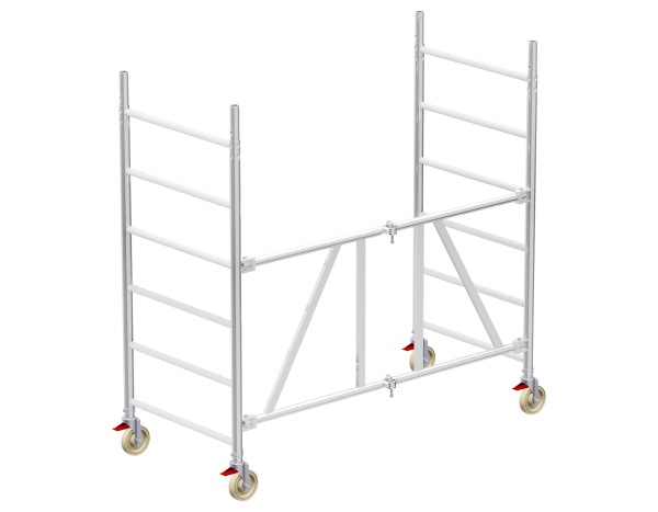 ALUFIX 80 mobile scaffold tower basic unit incl. 4 castors and 4 linchpins
