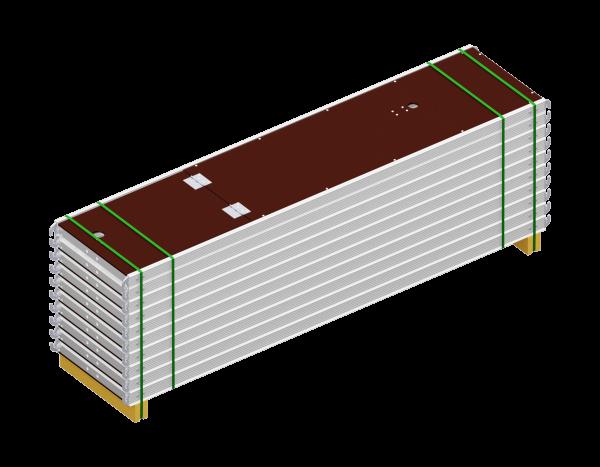 Paket ALFIX Durchstieg aus Aluminium 2,57 x 0,60 m, mit Leiter, Belag SDP, 10 Stück