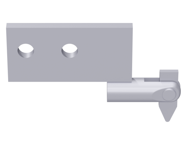 ALFIX eave ledger connection, steel, galvanised, with tilting pin