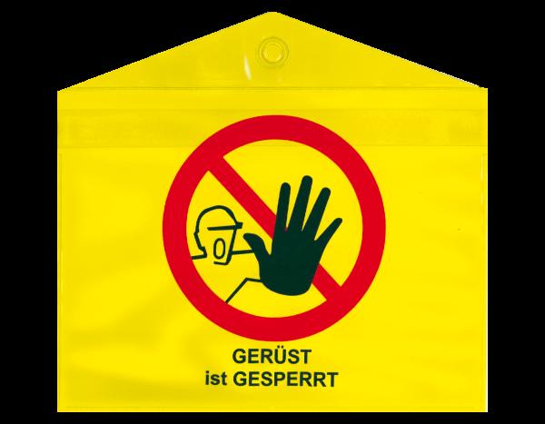 Kunststofftasche A5 gelb