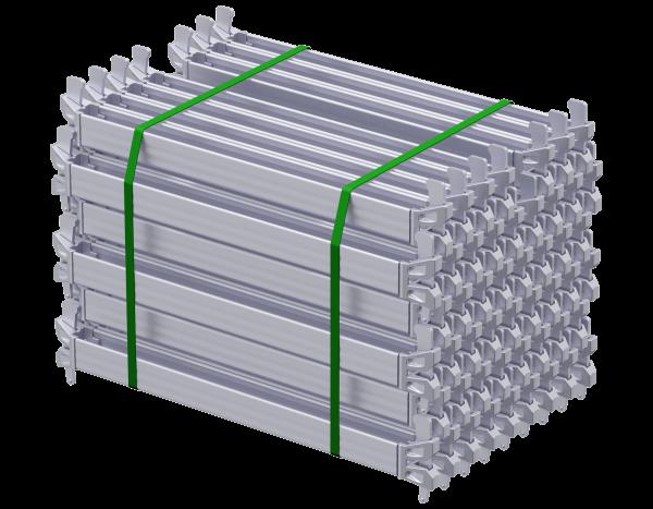Paket ALFIX MODUL MULTI U-Riegel aus Stahl 0,73 m, vz, 50 Stück