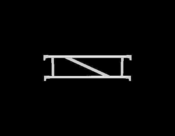 ALFIX double guardrail with posts, aluminium
