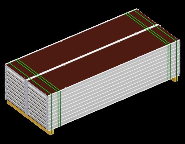 Paket UNIFIX Rahmentafel aus Aluminium 3,00 x 0,64 m Belag SDP, VPE 20 Stück