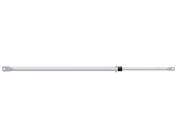 UNIFIX Teleskop-Rückengeländer aus Stahl 1,50 - 2,50 m, vz