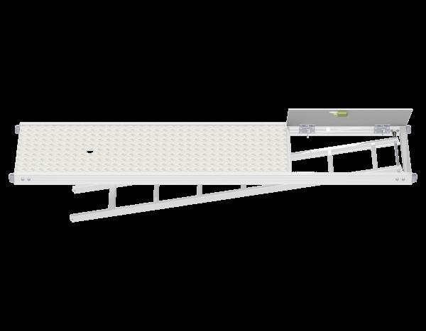 UNIFIX Vollaluminium Rahmentafel mit Durchstieg und integrierter Etagenleiter (WBQ)