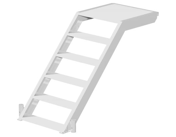 UNIFIX initial platform stairway 1.40 x 1.00 m, aluminium, with tube fitting